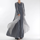 new design dubai abaya long sleeve double-layer chiffon girl muslim women dress Chiffon abaya