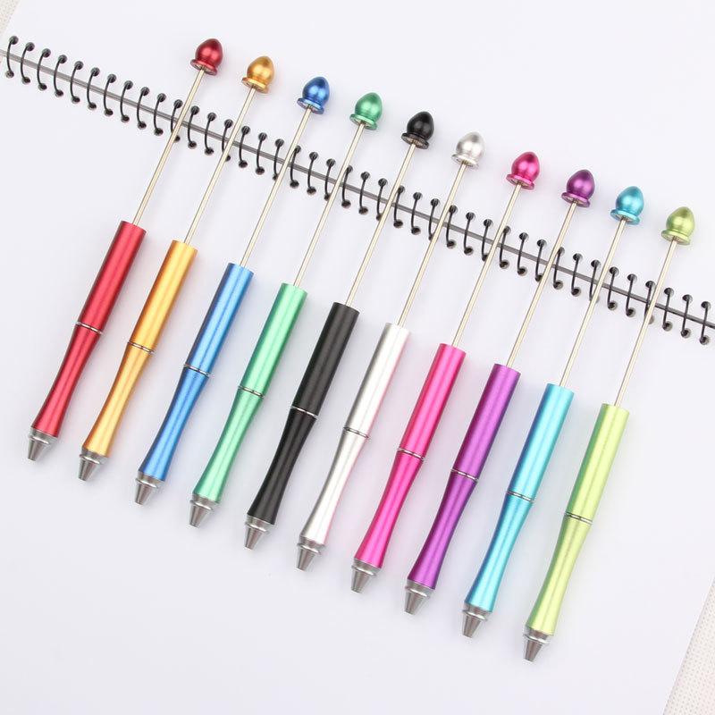 Handgemaakte Diy Nieuwe Geschenken Aanpasbare Craft Schrijven Tool Metal Beadable Pen Originele Bead Pennen Diy Balpen Kralen