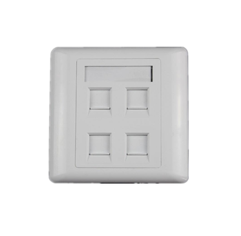 High quality  RJ45 dual port faceplate / cat6 2 port network face plate