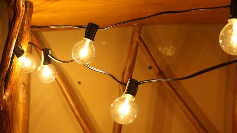 G40 Globe Lamp Met 5 Micro Leds Vuurvliegjes Fairy Outdoor String Lights Voor Achtertuin Tuin Pergola Tenten Tuinhuisje Party Decor