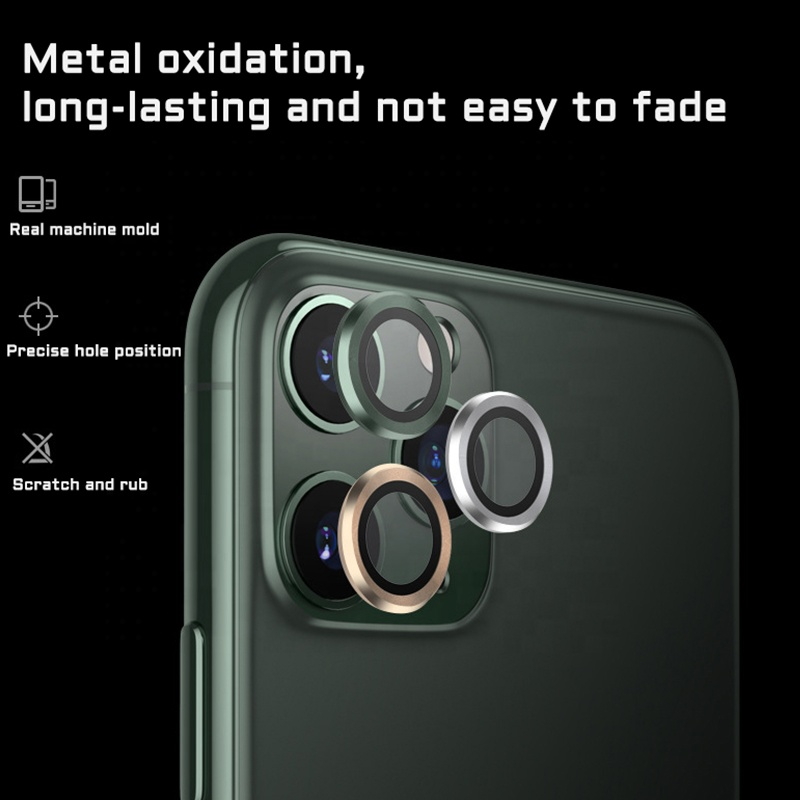2020 hot new product aviation aluminum alloy personalized camera lens film for iPhone12 Pro / Max / 11 / Pro / Max mobile phone
