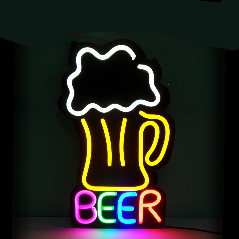 custom flex neon sign China LED Flex Neon Bar and Beer Sign