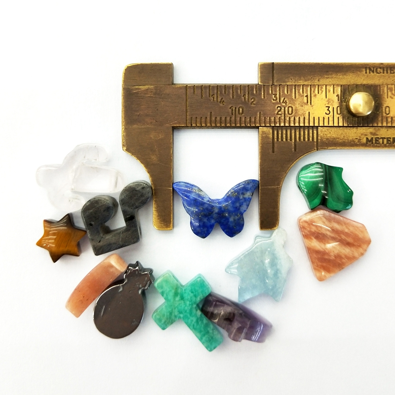 Natural star note pendant tiny gemstone pendants rose quartz tiger eye stone agate amethyst crystal charms beads