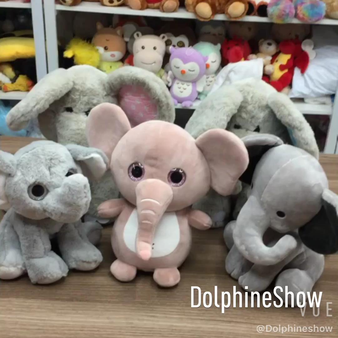 Màu Xám Sang Trọng Và Voi Nhồi Bông Đồ Chơi Với Tai Lớn Bán Buôn Tùy Chỉnh Giá Rẻ Dễ Thương Mềm Elephant Thú Nhồi Bông