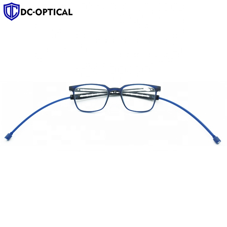 2020 Fashion slim hang neck magnetic TR90 reading glasses with soft silicone adjustable temples
