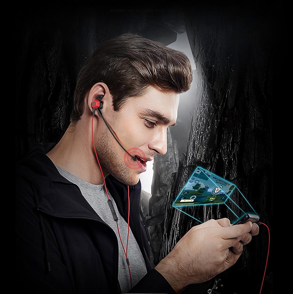 Compre LANGSDOM G100 Auriculares Para Juegos De PC Con Micrófono En El Oído Bajo Cancelación De Ruido Auricular Con Micrófono Para Xbox Teléfono