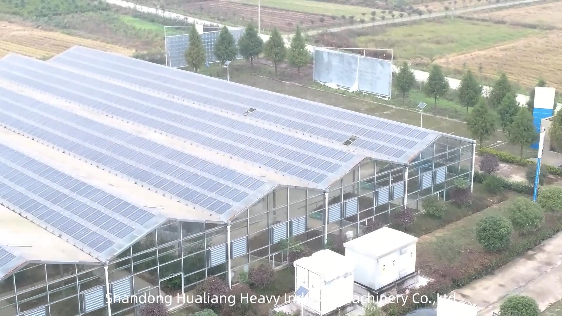 Photovoltaik Solar Glas abdeckung Gewächshaus für tomaten und gurke