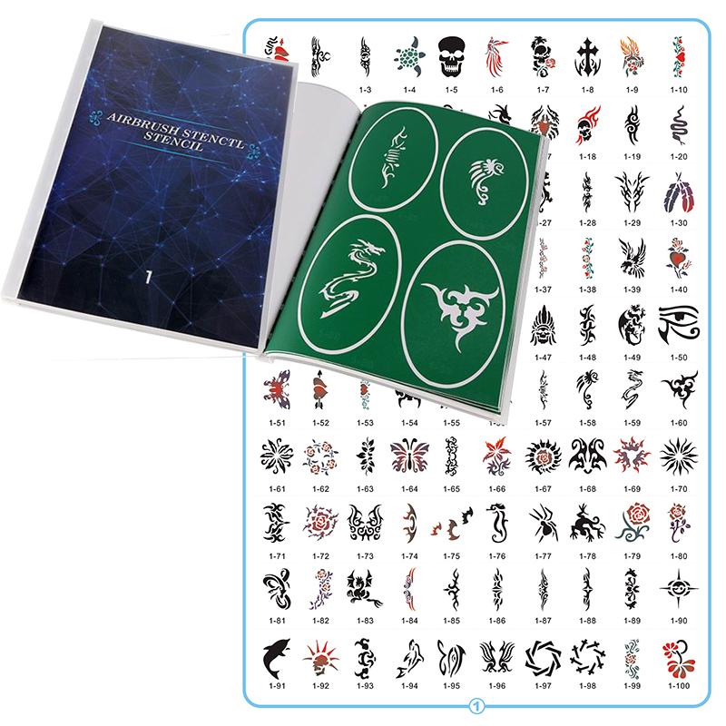 Book 1 Cheap price high quality custom design temporary airbrush tattoo stencils