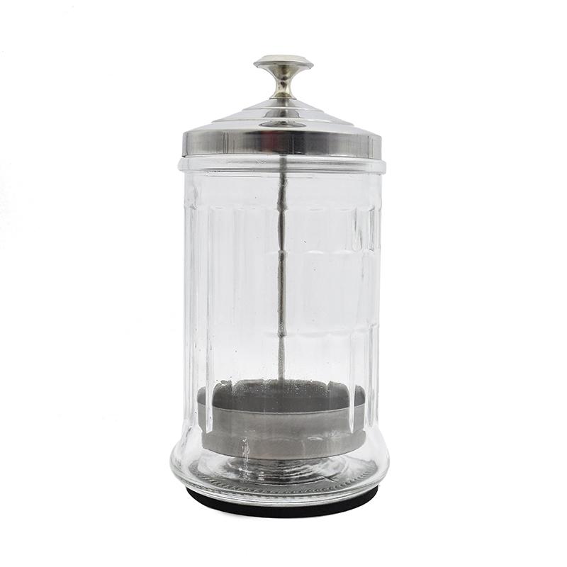 Disinfecting Jar Salons & Barbers Sanitizing Manicure Glass Jar