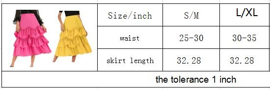 Cake Half-length A-shaped Super Immortal Layer Short Skirt Leisure Loose Pure Skirt