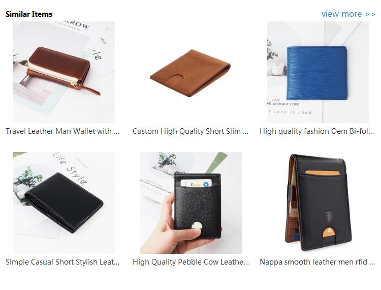 Custom High Quality Short Slim Genuine Leather Man Wallet Bifold RFID Blocking Men's Wallet