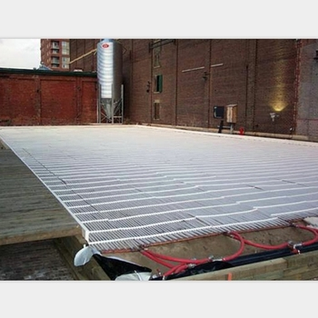 White Color Ice Rink Outrigger Cooling Mat Ice Rink Pe Tube Mats