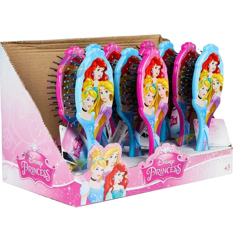 एफ एंड जम्मू ब्रांड थोक बर्फ राजकुमारी बच्चों कार्टून मालिश प्राकृतिक कस्टम बाल कंघी बच्चे बाल ब्रश कंघी सेट