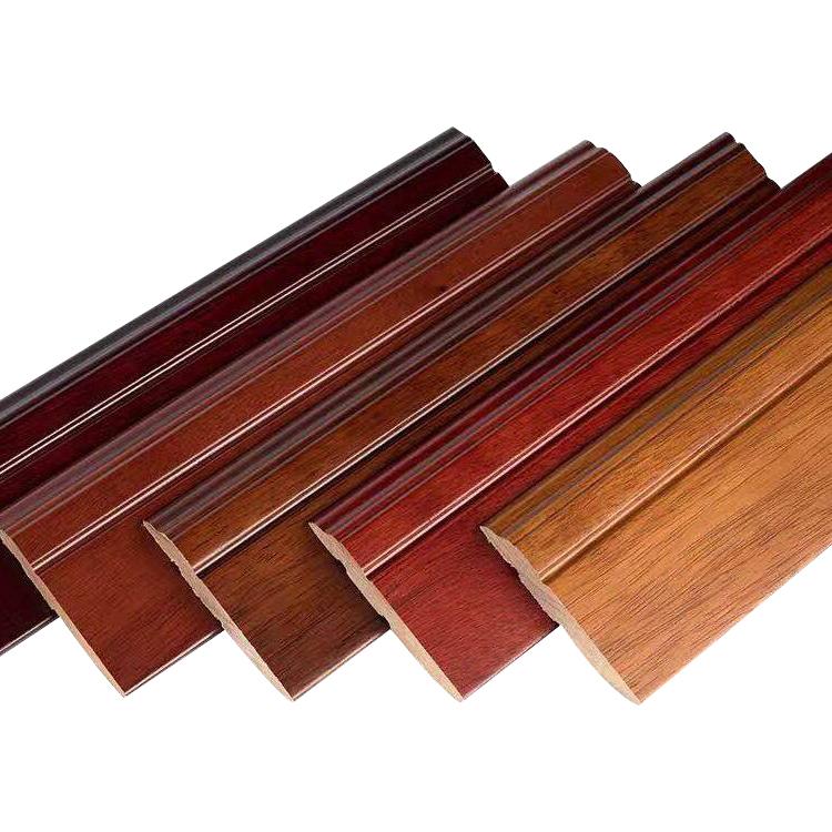 Hot Sale Fire Resistant Skirting Board Walnut, Impact Resistant wood Skirting Board