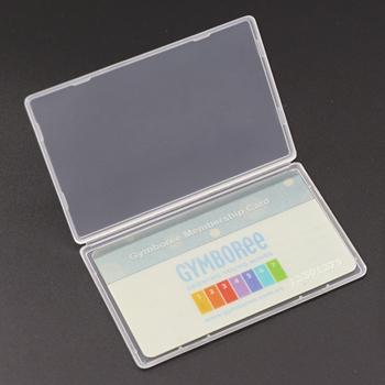 Plastic Packing Storage Cell Phone Card Box 5mm Clear Slim Plastic Sim Card Case For Holding Card