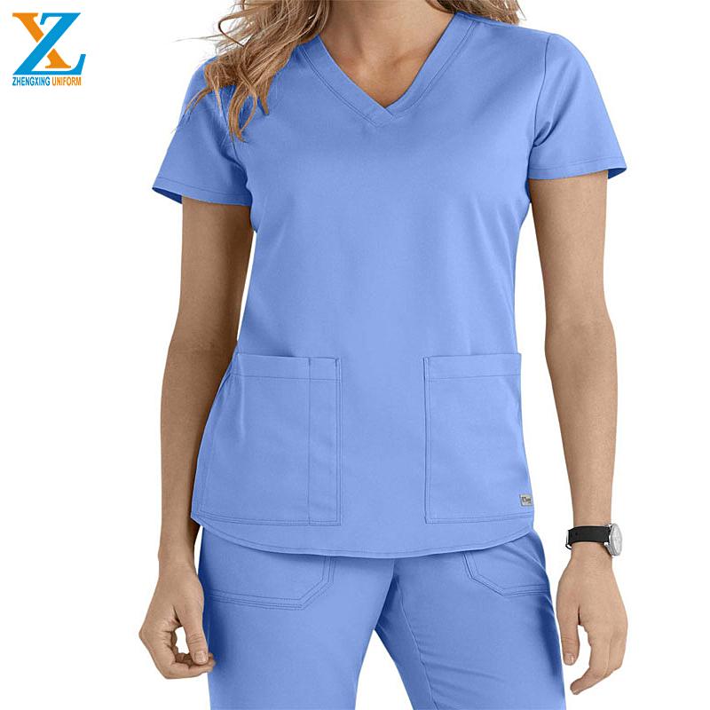 Scrub-Polyester/Rayon/Spandex New Style Fashionable Nurse Uniform