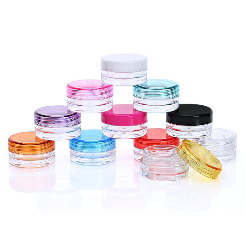 Clear Plastic Cosmetic Jar 5ml Used As Promotion Cream Glitters Sample Packaging Wholesale
