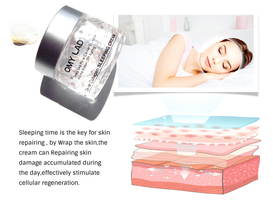 Private label skin care omy lady vitamin e whitening face night cream to improve skin radiance
