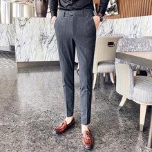 2020 весенние мужские Бизнес Брюки Повседневное Slim Fit Социальный костюм камуфляжные брюки мужские Британский Стиль Свадебные брюк 28-38(Китай)