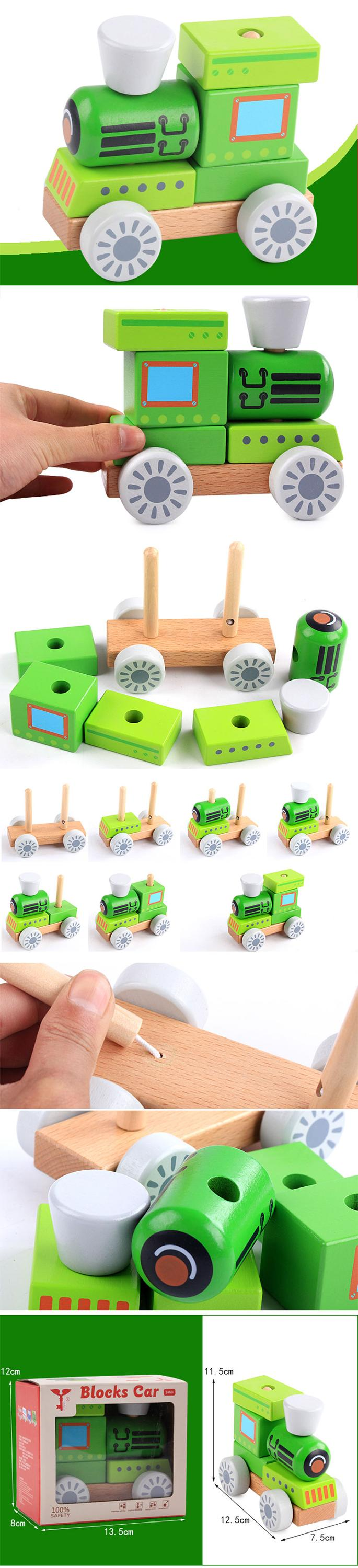 Kids Children Lovely Wooden Fire truck/police car/ambulance/Construction vehicle Toy  Car Ambulance