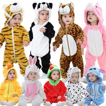 MICHLEY Baby Girls Cartoon Jumpsuits Hooded Christmas Animal Baby Boys' Rompers