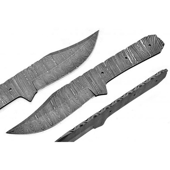 BEAUTIFUL CUSTOM HAND MADE DAMASCUS BLANK BLADE HUNTING KNIFE
