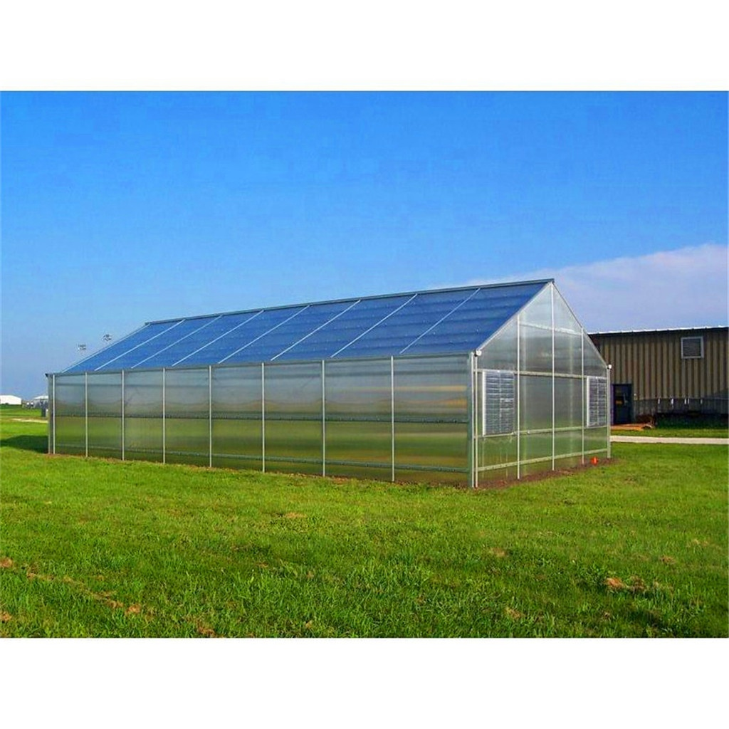 Dongju 9600 single span Aluminum structure garden greenhouse used for home office and garden green house
