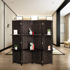 Screen Screen NPD001 Hot Sale Paper Rope Room Divider Screen For Dinner Room With Display Shelf