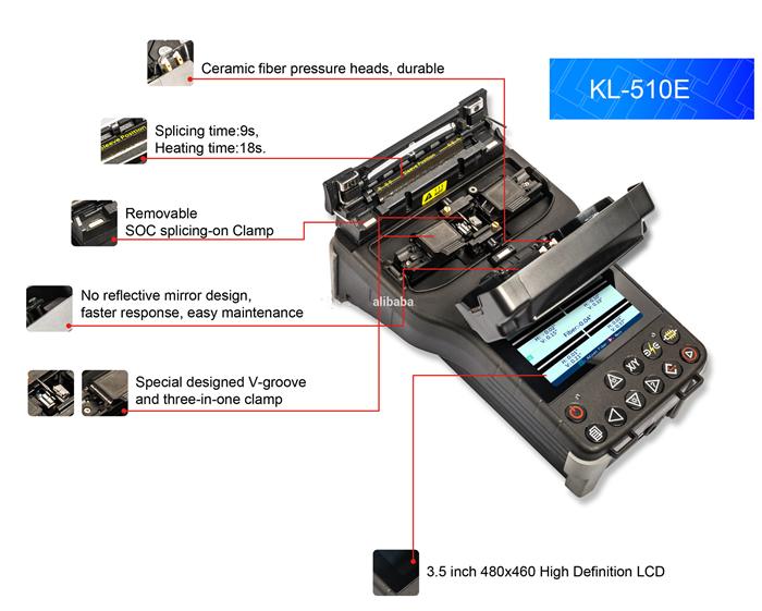 JILONG KL-510E Fusion Splicer Small Handheld Core to Core Alignment wholesaler