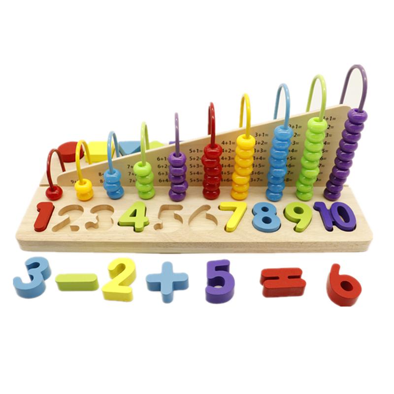 Intelligente di apprendimento del bambino perline montessori math conteggio abaco in legno giocattolo per i bambini
