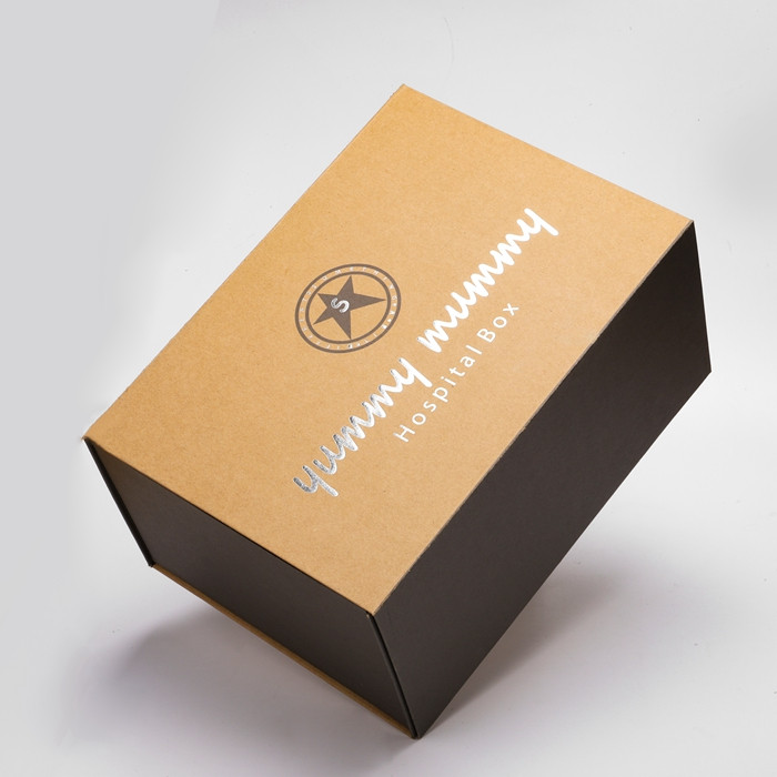 Cheap Kraft Cardboard Box Packaging Custom Logo Embossed Gift Flip Top Paper Box for Luxury products