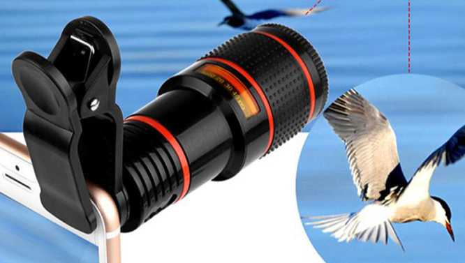 Dropshipping Mobile Phone Camera Lens 12X Zoom Telephoto Lens External Telescope With Universal Clip for Smartphone