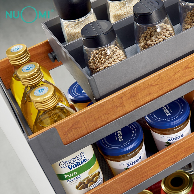 NUOMI 2020 New Kitchen Cabinet Multifunctional Basket with Inner Tray MIRAGE series
