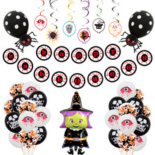 Halloween Thema Event Decoratie Goedkope Cartoon Print <span class=keywords><strong>Helium</strong></span> Ballonnen Folie