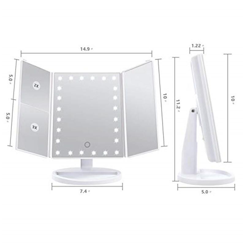 2019 터치 스크린 스마트 조명 회전 화장 거울 여자 탁상용 거울