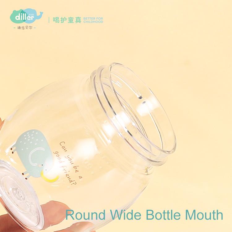 BPA-free straw kid baby drink bottle