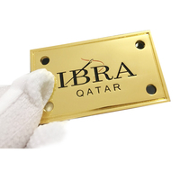 High Quality Custom Metal plate Logo Labels for Handbags Logo engraved metal nameplate Tags