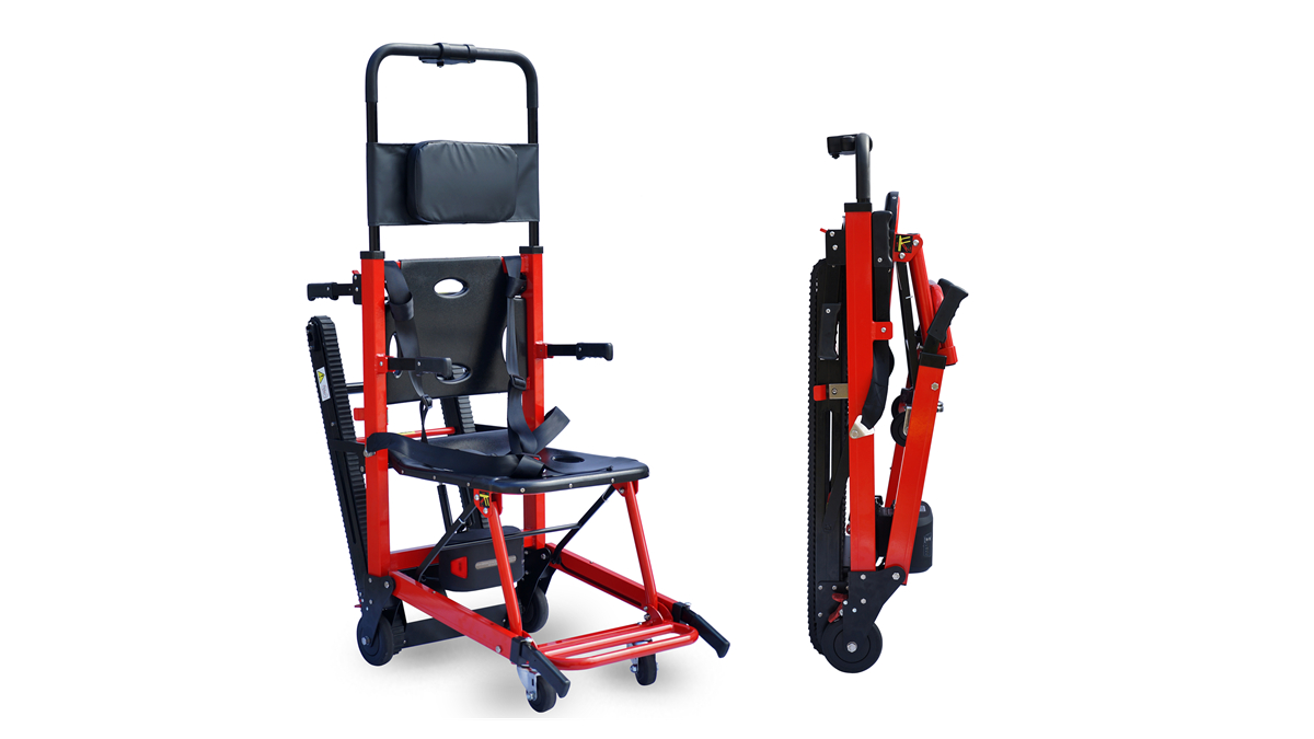الألومنيوم مطوية تسلق السلالم الكهربائية كرسي متحرك لكبار السن