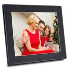 Wholesale CE FCC Certification Thinnest Lcd 8 Inch Metal Black Digital Photo Frame With Picture Video Loop Playback