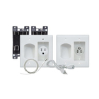 Tv Flat Panel TV In Wall Cable Organizer Power Kit With Power Solution