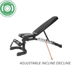 Bench Stable Cross Fit 6 Level Adjustable FID Sit Up Bench
