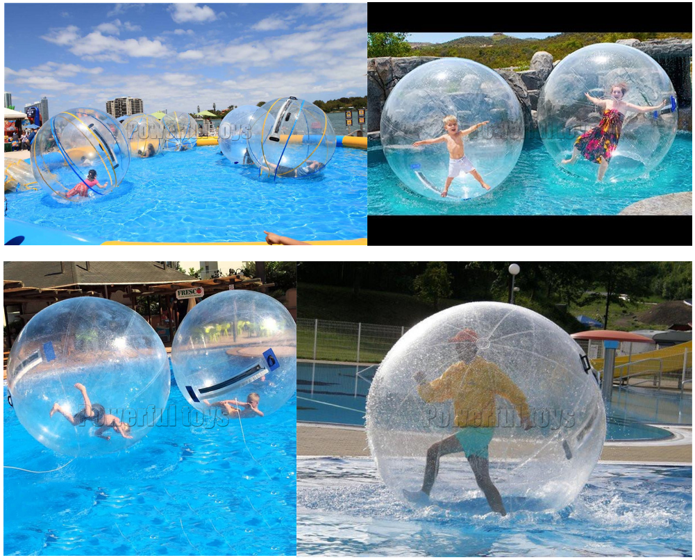 2m  Inflatable Walking on Water Ball for Swimming Pool Floating Human Inside Dacing Balloon Running Zorb Balls