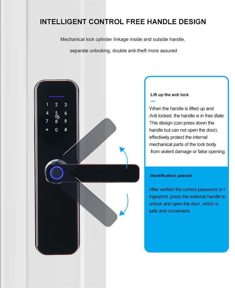 2021 Hight Chất Lượng Giá Tốt Phòng Ngủ Mới Thông Minh Khóa Cửa Vân Tay Wifi Tuya App Lcok