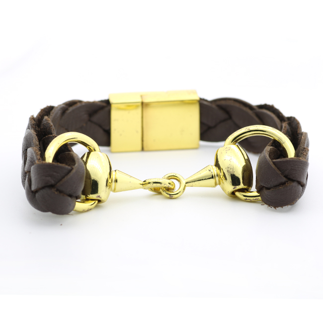 2020 New Product Fashion Cowhide Flat Braided Bracelet For Jewelry