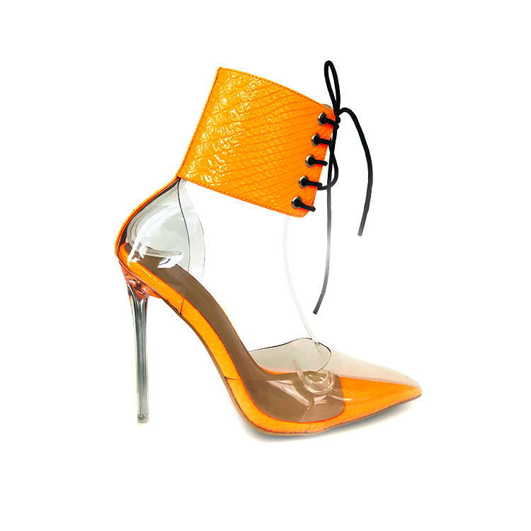 High quality latest design ladies transparent women shoes sandals <strong>heels</strong>