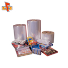 Wholesale accept custom order transparent heat sensitive moisture proof printed plastic wrap for dishes packaging