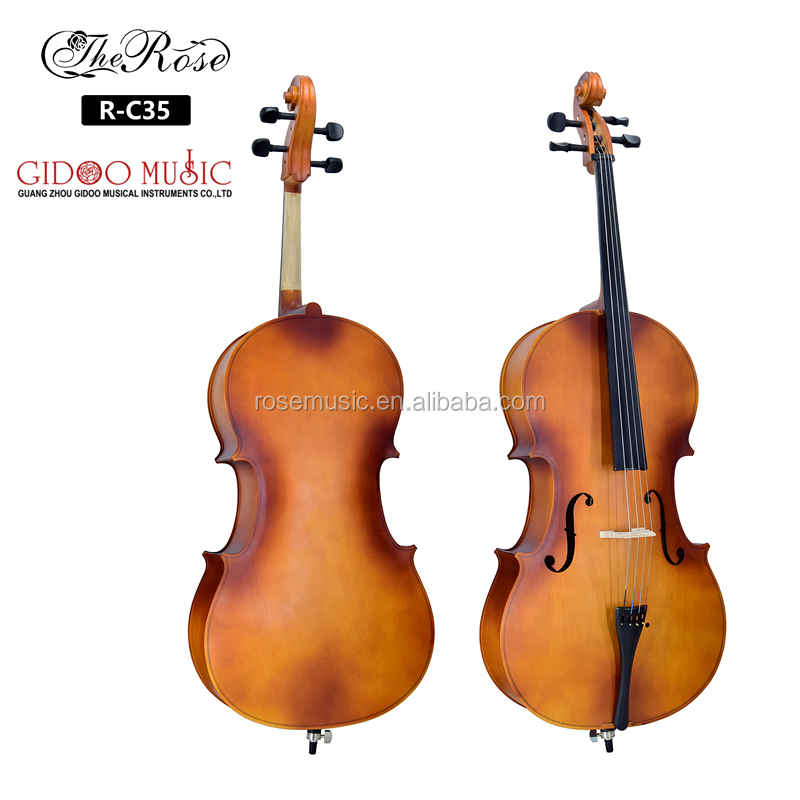Wholesale price OEM brand 4/4-3/4 Maple top cello set  for beginner and student