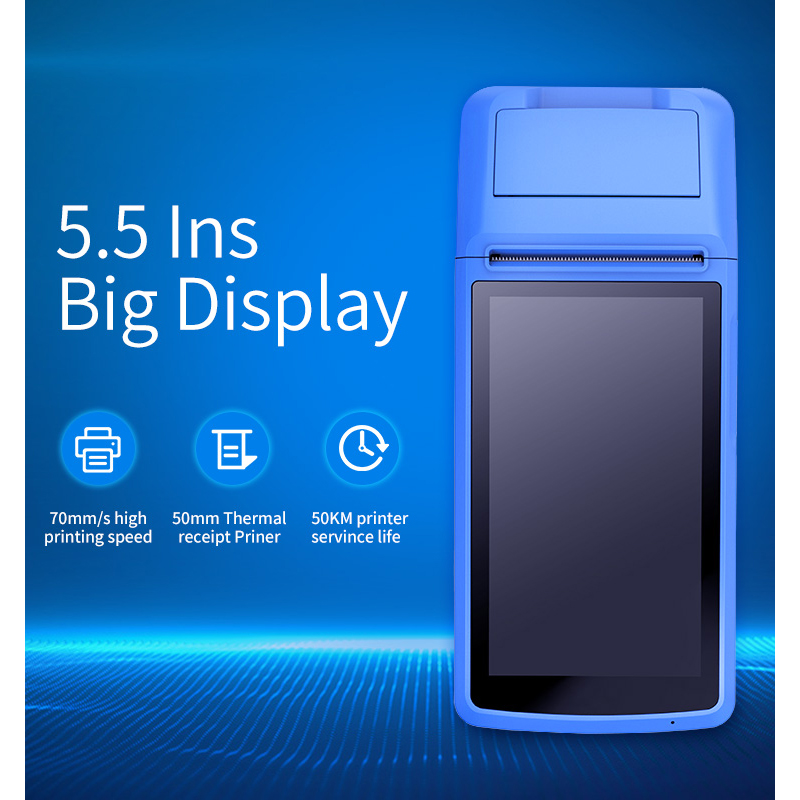 HZTZ Android Touch Screen Restaurant Pos Machine 2G/3G NFC Scanner With Receipt Printer