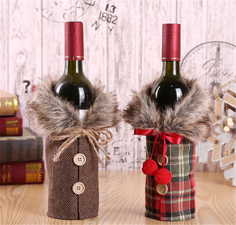 botellas de temporada navideña