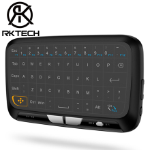 RK Design Unico H18 Ricaricabile 2.4G Mini Tastiera Senza Fili con <span class=keywords><strong>Touch</strong></span> <span class=keywords><strong>Pad</strong></span> per Android TV Box Smart TV